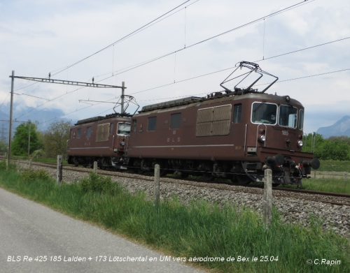 BLS Re 425 185 Lalden + 173 Lötschental vers aérodrome de Bex le 25.04..jpg