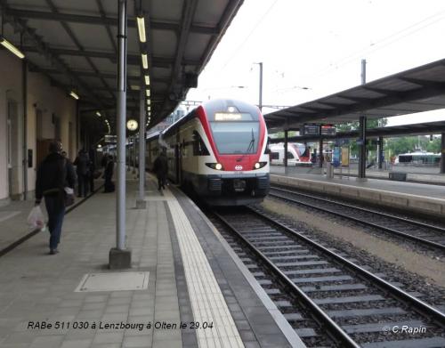 RABe 511 030 à Lenzbourg à Olten le 29.04.jpg