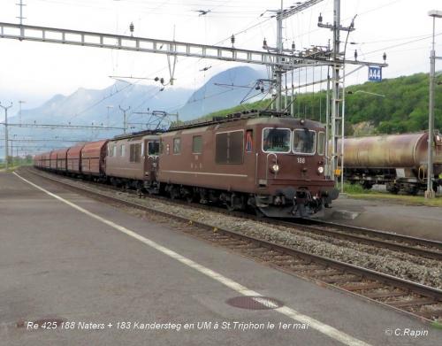 Re 425 188 Naters + 183 Kandersteg à St.Triphon le 1er mai ..jpg