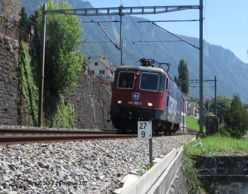 Re 420 268-5 à Chillon le 3.07..jpg
