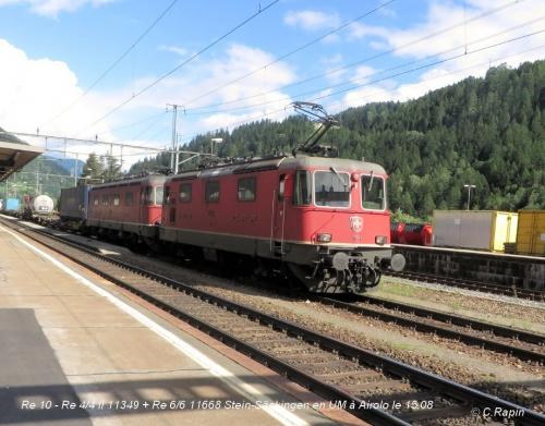 Re 10 -Re 44 II 11349 + Re 66 11668 Stein-Säckingen en UM à Airolo le 15.08.jpg