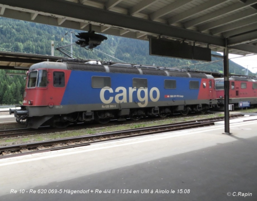 Re 10 - Re 620 069-5 Hägendorf + Re 44 II 11334 en UM à Airolo le 15.jpg