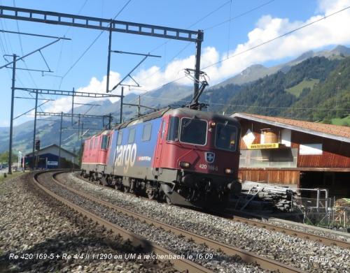 Re 420 169-5 + Re 44 II 11290 en UM à Reichenbach 16.09.jpg