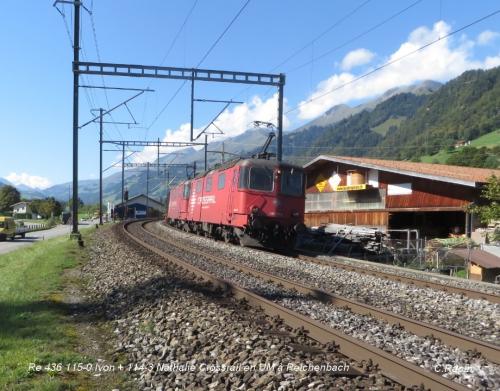 Re 436 115-0 Ivon + 114-3 Nathalie Crossrail en UM à Reichenbach .jpg