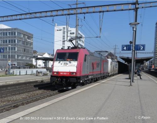 05-Br 185 592-3 Crossrail + 581-6 Ewals Cargo Care à Pratteln.jpg