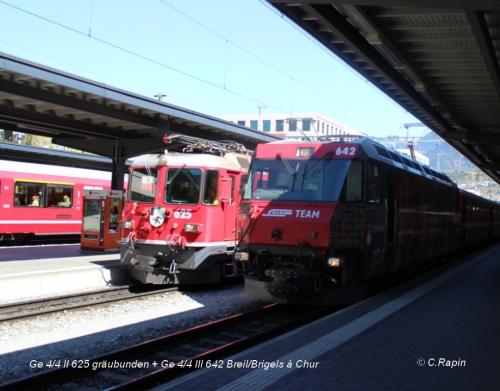 Ge 44 II 625 gräubunden + Ge 44 III 642 Breil -Brigels Chur .jpg