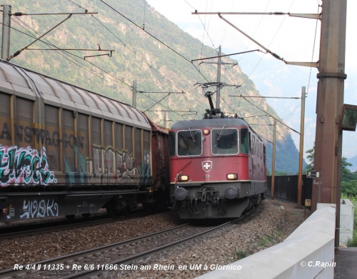 02 -Re 10 Re 44 II 11335 + Re 66 11666 Stein am Rhein Giornico 10.06..jpg