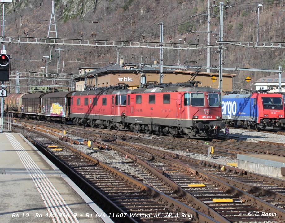 011-Re 10- Re 420 266-9 + Re 66 11607 Wattwil en UM à Brig 26.02..jpg