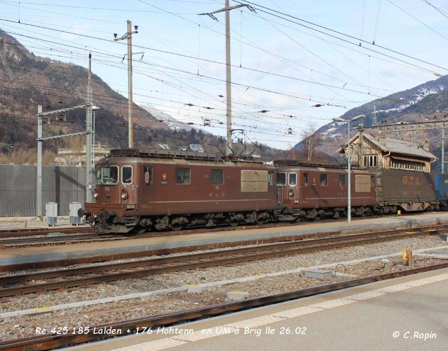025-Re 425 185 Lalden + 176 Hohtenn  en UM à Brig lle 26.02..jpg