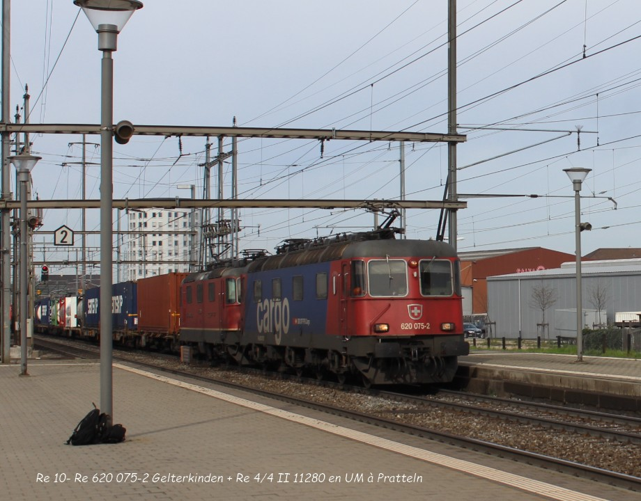 Re 10- Re 620 075-2 Gelterkinden + Re 44 II 11280 en UM à Pratteln 31.03..jpg