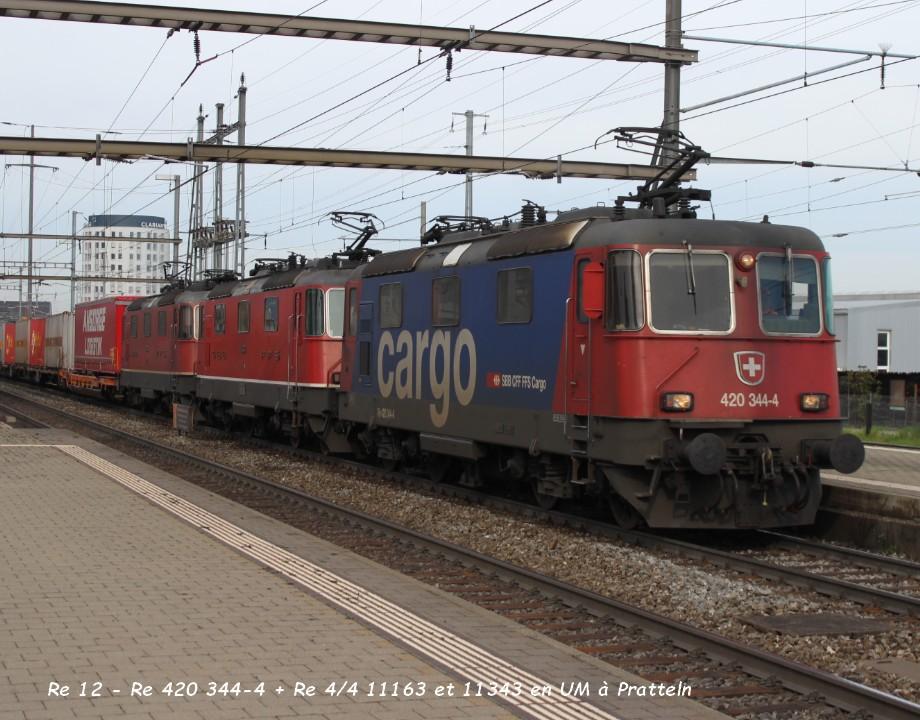 14.Re 12 - Re 420 344-4 + Re 44 11163 et 11343 en UM à Pratteln 31.03..jpg