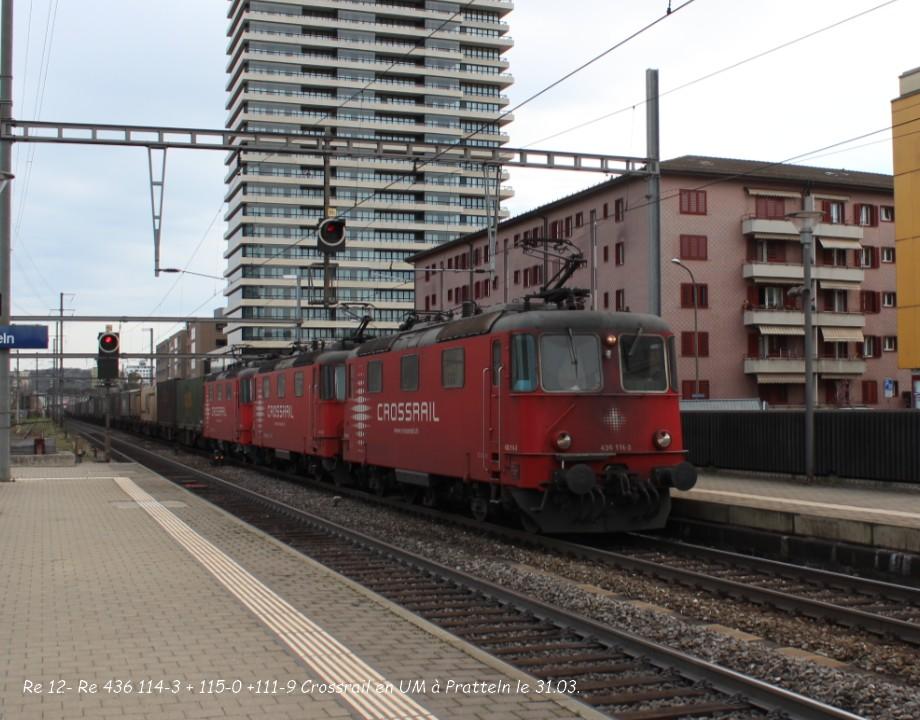 13.Re 12- Re 436 114-3 + 115-0 +111-9 Crossrail en UM à Pratteln le 31.03..jpg