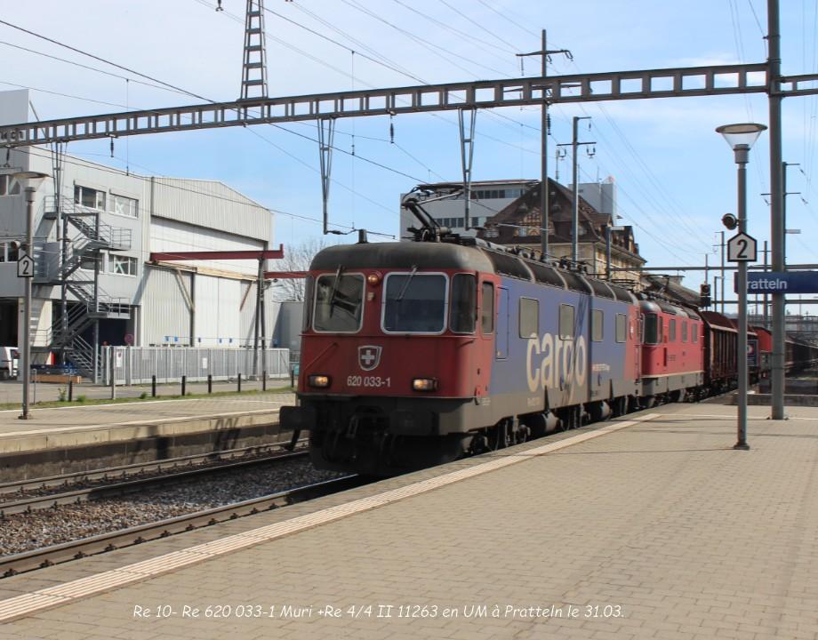 22.Re 10- Re 620 033-1 Muri +Re 44 II 11263 en UM à Pratteln le 31.03..jpg