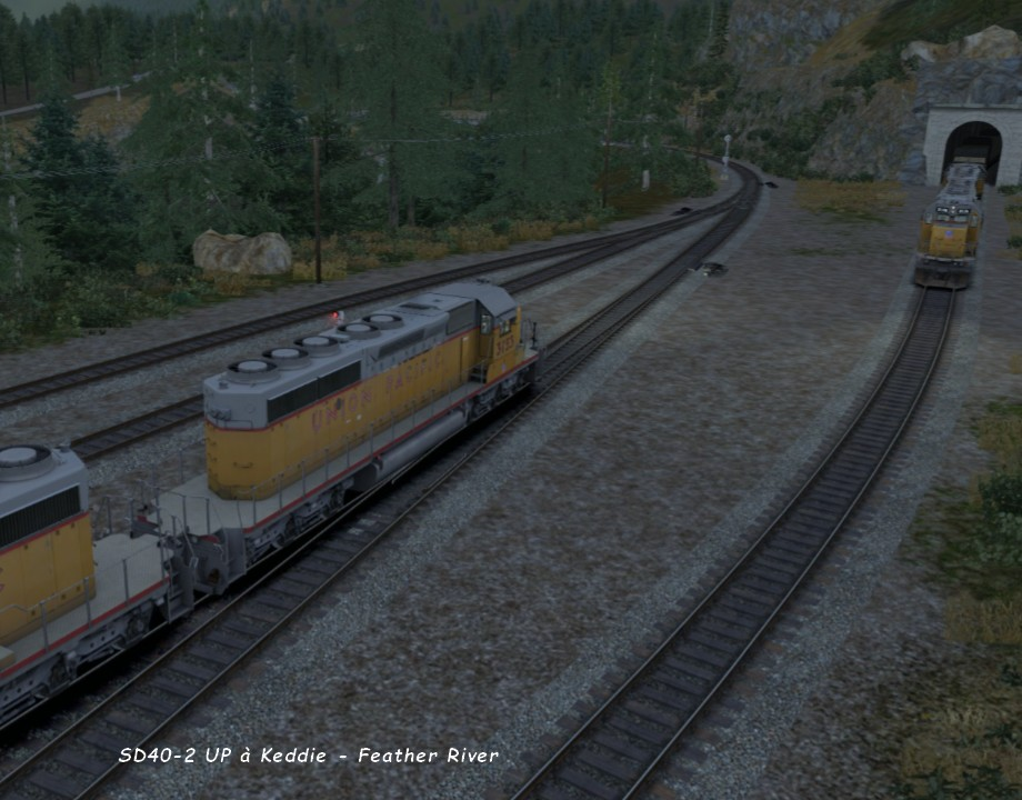 SD40-2 UP à Keddie - Feather River ..jpg