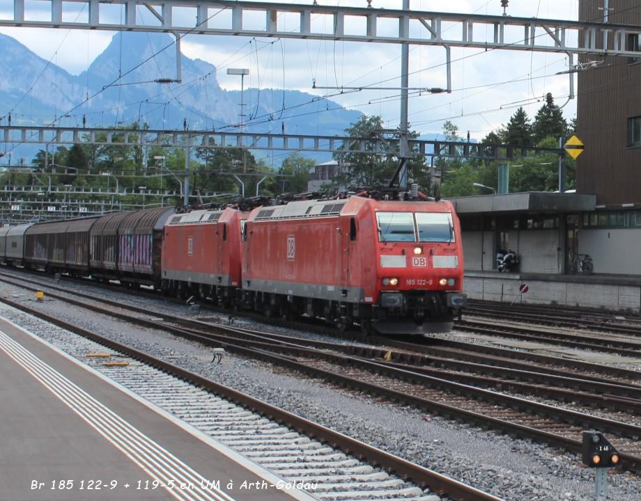 Br 185 122-9 + 119-5 en UM à Arth-Goldau..jpg