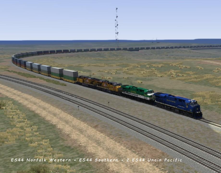 ES44 Norfolk Western + ES44 Southern + 2 ES44 Unoin Pacific Sherman 5.10..jpg