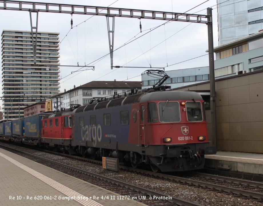 03-Re 10 - Re 620 061-2 Gampel-Steg + Re 44 II 11272 en UM  à Pratteln 9.03.jpg