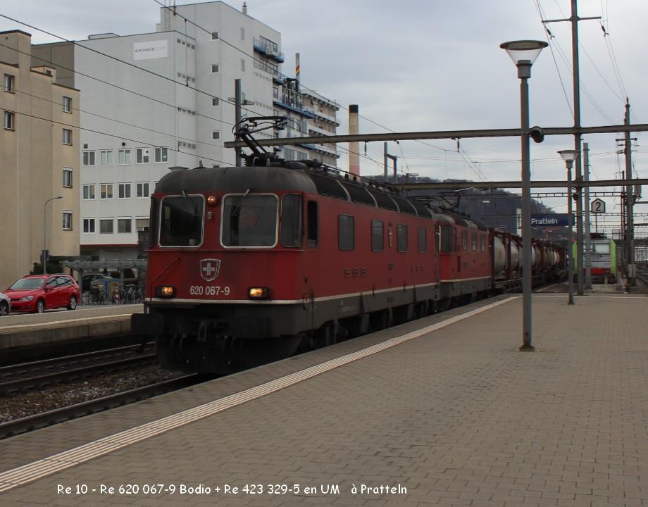 07-Re 10 - Re 620 067-9 Bodio + Re 423 329-5 en UM   à Pratteln 9.03.jpg