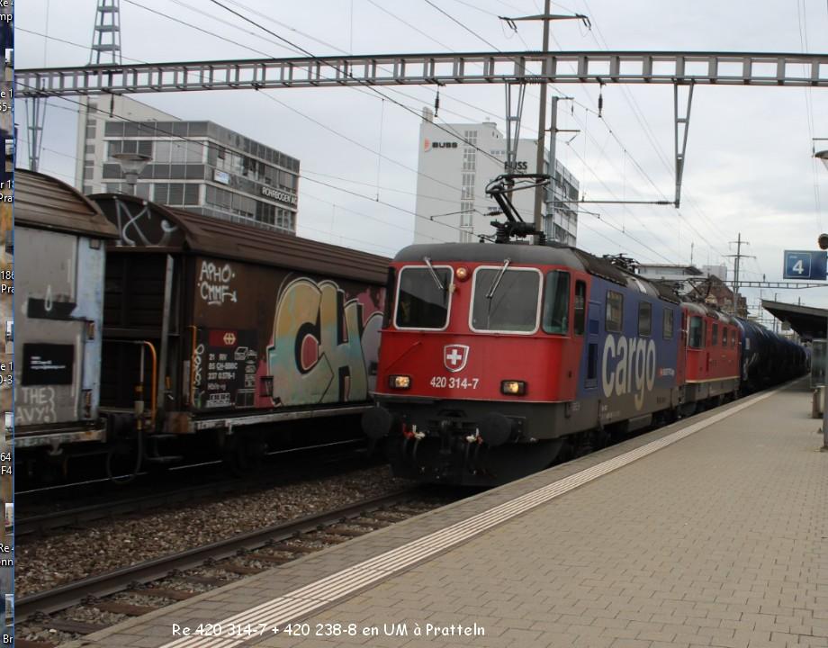 Re 420 314-7 + 420 238-8 en UM à Pratteln 9.03.jpg