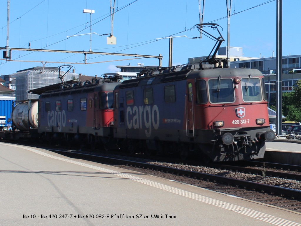 Re 10 - Re 420 347-7 + Re 620 082-8 Pfäffikon SZ en UM à Thun 27.06.jpg