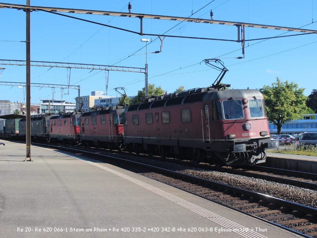 Re 20- Re 620 066-1 Steim am Rhein + Re 420 335-2 +420 342-8 +Re 620 063-8 Eglisau en UM à Thun  27-06.jpg