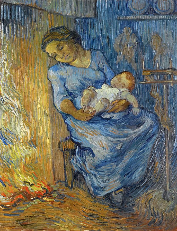 V.Van Gogh - Woman with child at home.jpg
