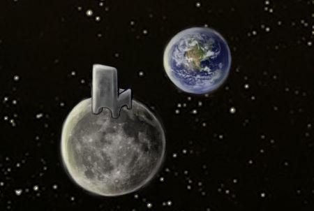 terre-lune vue de l'espace