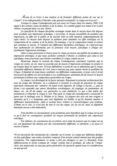 2 Théorie du Cirque librement inspiré de 'La Théorie du Cinématographe' de Lev Kouléchov (juillet 2010).jpg