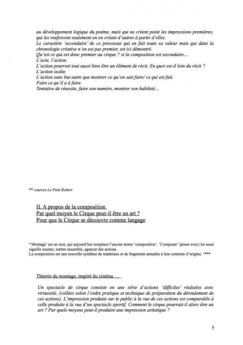5 Théorie du Cirque librement inspiré de 'La Théorie du Cinématographe' de Lev Kouléchov (juillet 2010).jpg