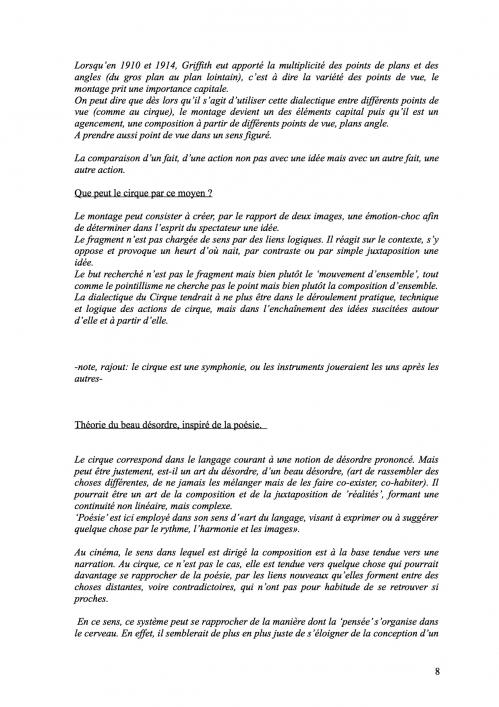 8 Théorie du Cirque librement inspiré de 'La Théorie du Cinématographe' de Lev Kouléchov (juillet 2010).jpg