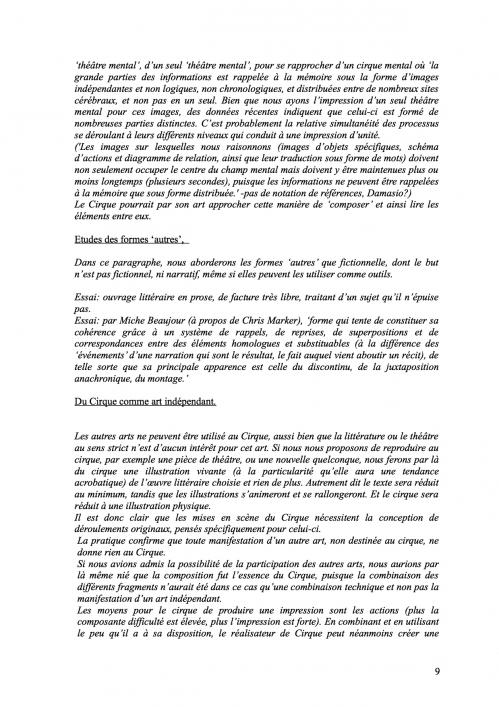 9 Théorie du Cirque librement inspiré de 'La Théorie du Cinématographe' de Lev Kouléchov (juillet 2010).jpg