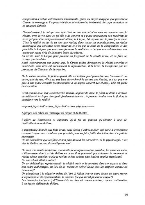 10 Théorie du Cirque librement inspiré de 'La Théorie du Cinématographe' de Lev Kouléchov (juillet 2010).jpg