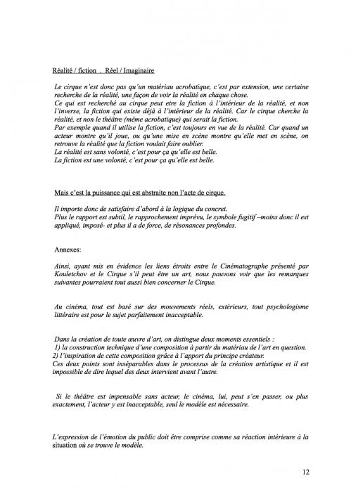 12 Théorie du Cirque librement inspiré de 'La Théorie du Cinématographe' de Lev Kouléchov (juillet 2010).jpg