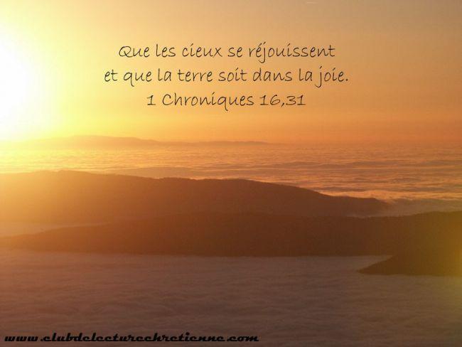 1 Chroniques 16.31