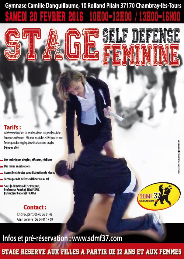 affiche stage  self defense feminine 20 fev 2016.JPG
