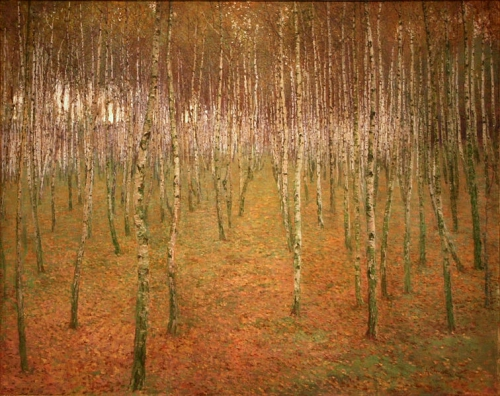 forêt de boulaux par Antonín Slaví%u010Dek.jpg