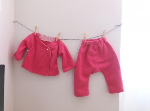 Esprit Kimono pour les Petits Leiko et Jun couture bébé