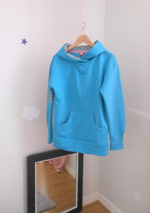 burda 7172 couture patron sweat bleu turquoise