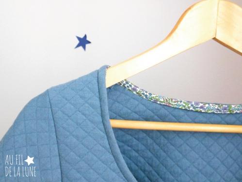 robe Plantain * patron Deer&Doe modifié * jersey matelassé France Duval Stalla * Au fil de la Lune * blog couture