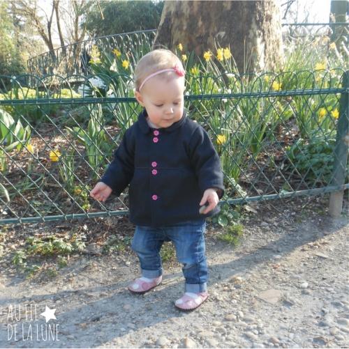 manteau lainage * patron intemporels pour bébé modifié * Au fil de la Lune *
