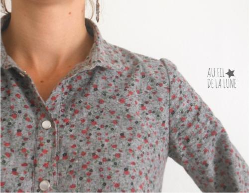 chemise Johanna * Au fil de la Lune