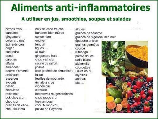 liste d 39 pices plantes et aliments anti inflammatoires bien tre sant relaxation massage. Black Bedroom Furniture Sets. Home Design Ideas