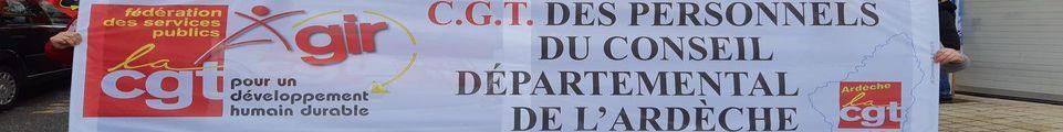 Syndicat CGT des personnels du Département de l'Ardèche
