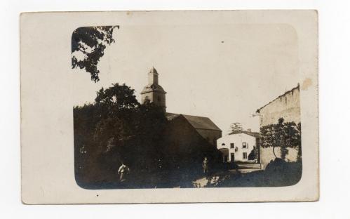 Eglise et maison Bourgeois guerre demolie.jpg