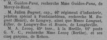 Guidon-Pana annonce recherche bulletin M&M 25 janvier 1915.jpg