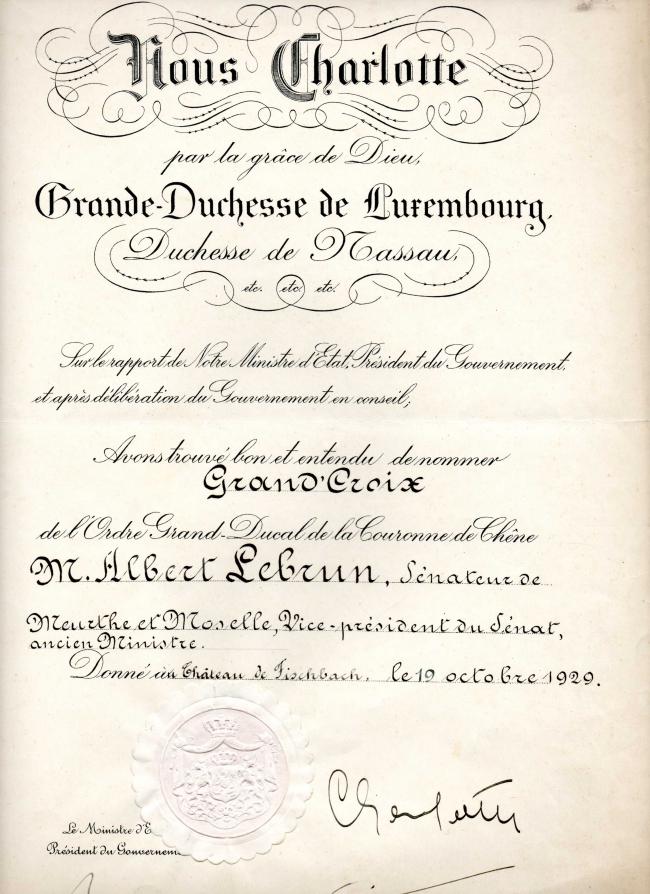 Brevet décoration Luxembourg 1929.jpg
