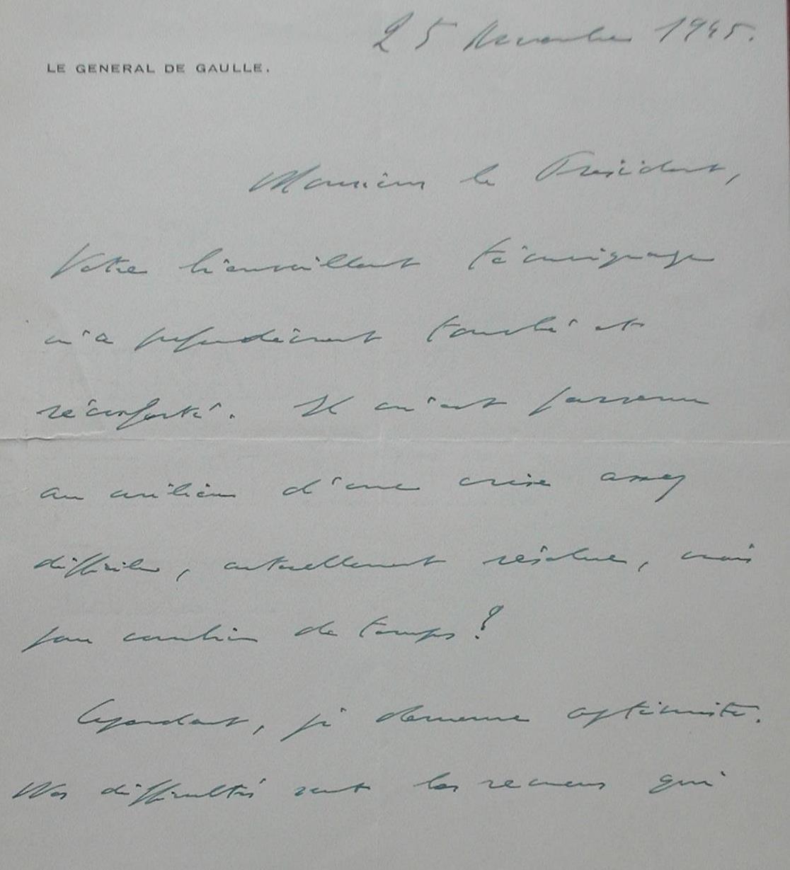 Lettre de Gaulle 25 novembre 1945 page 1.jpg