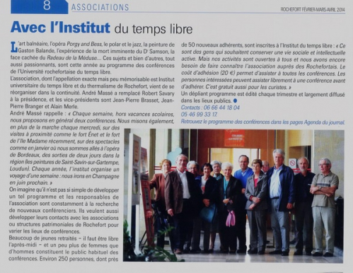 UTL nouveau bureau journalRochefort janv 2014.jpg