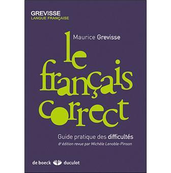 Le-francais-correct Maurice Grévisse 2009.jpg