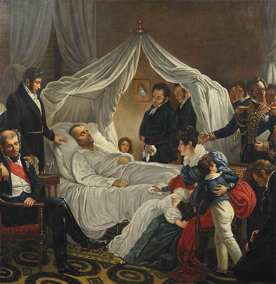 Mort de Napoléon Ste Hélène de Charles Steuben 1821.jpg